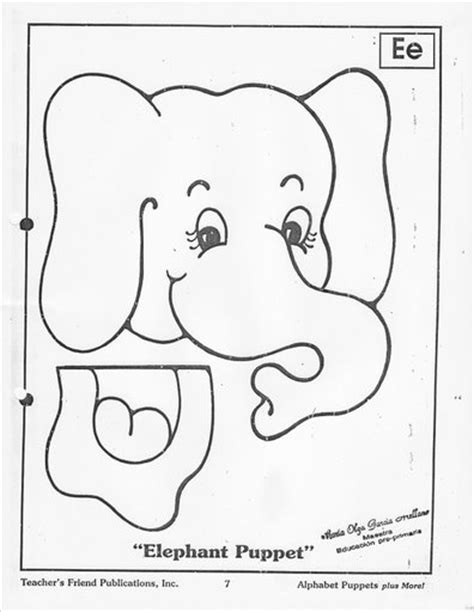 Elephant Template For Preschool by Paper Bag Crafts With Pattern For Crafts And