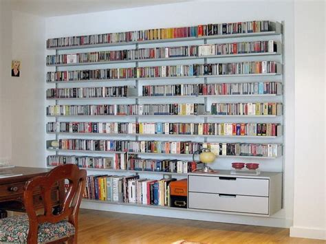 Large White Wall Mounted Bookcase Design Stroovi