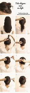 Comment Attacher Ses Cheveux : comment attacher ses cheveux avec crayon stylo et baguette ~ Melissatoandfro.com Idées de Décoration