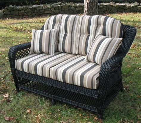 wicker settee replacement cushions loveseat cushion set wicker style
