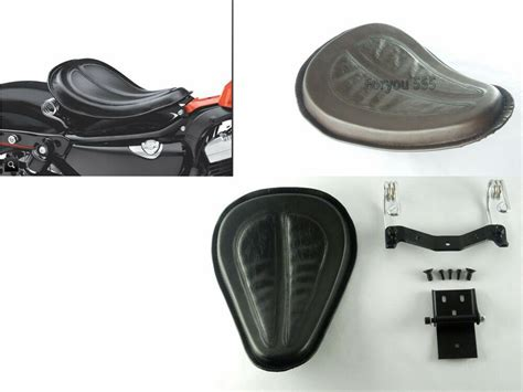 Solo Seat W/ Brackets Spring For Harley 2004-2015