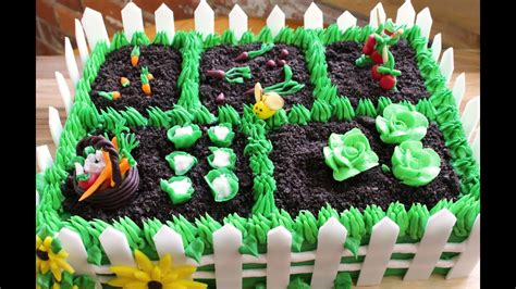 Garden Decoration For Cake by How To Make A Vegetable Garden Cake