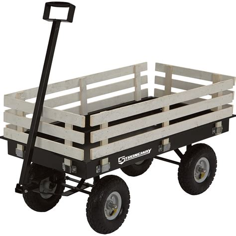Strongway Garden Wagon With Rails — 1,200lb Capacity, 46
