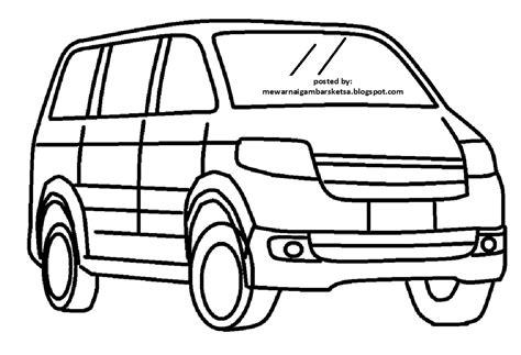 mewarnai gambar mewarnai gambar sketsa transportasi mobil 4