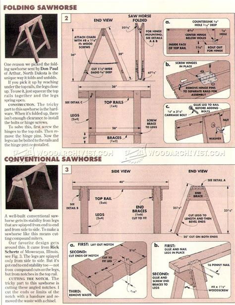 sawhorses plans workshop solutions plans tips