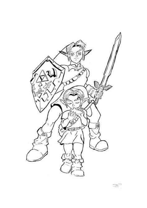 link zelda coloring pages az coloring pages