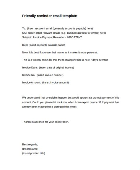 Reminder Memo Template by 10 Payment Reminder Letter Templates Pdf Doc Free