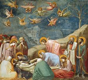 the lamentation of giotto di bondone as print or painted