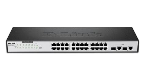 24 port fast ethernet switch with 2 gigabit ports des 1026g d link