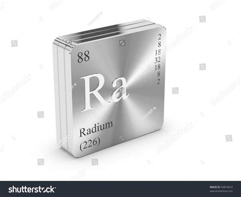 Element Of The Periodic Table On Metal Steel