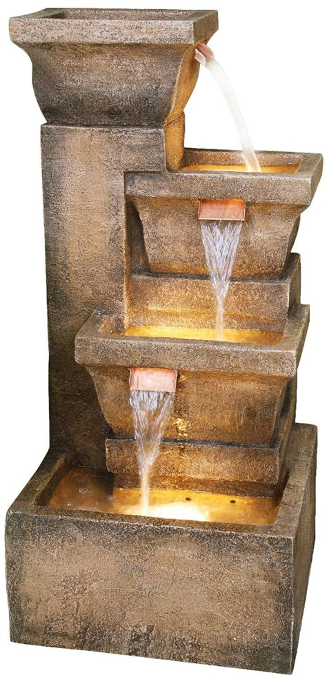 outdoor lighted water fountains style pixelmari com