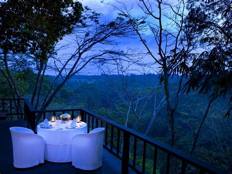 como shambhala estate bali dinner   deck  views