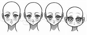 Drawing an Anime Girl Face, Step by Step, Anime People ...