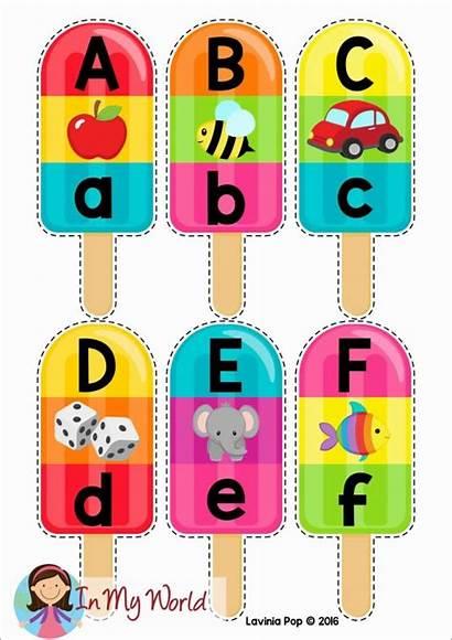 Alphabet Sounds Summer Popsicle Preschool Beginning Literacy