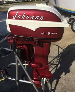 1957 35 Hp Johnson Restored Outboard Boat Motor For Sale