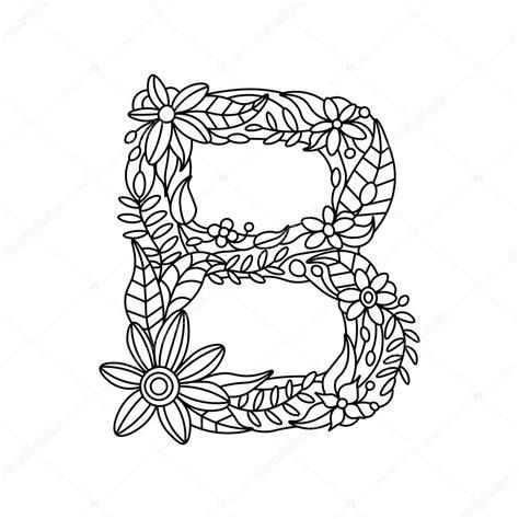 Kleurplaat Mandala Letter D by Letter B Kleurboek Voor Volwassenen Vector Stockvector