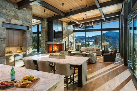 modern rustic mountain home  spectacular views  big