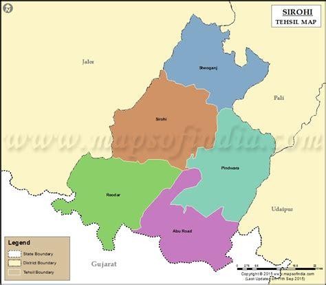 sirohi tehsil map sirohi tehsils