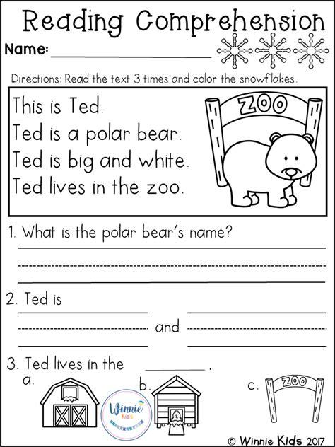 kindergarten reading comprehension passages winter 244 | 6683b2ca90ffe956ee5f682121ab2b03