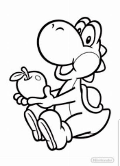 Yoshi Mario Coloring Kleurplaat Kart Zum Bros