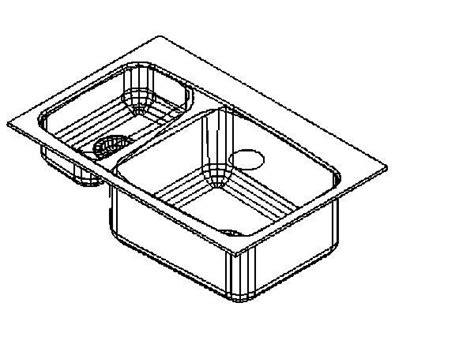 kitchen sink on revitcity object kohler k 5877 lakefield sink 5877