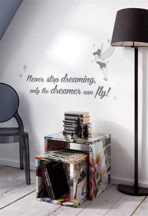 canapé chez fly stickers muraux never stop dreaming panoramique disney