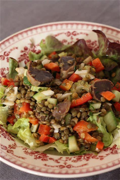 cuisiner les gesiers salade de lentilles aux gésiers de canard ma p 39 tite cuisine