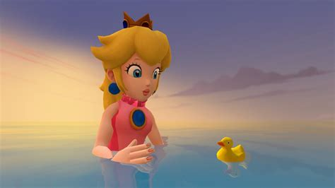 Peach And The Little Duck By Zefrenchm On Deviantart