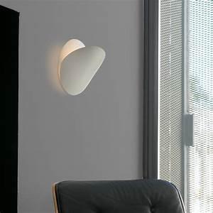 Applique Murale Dorée : applique murale ovo blanc 24cm faro luminaires nedgis ~ Teatrodelosmanantiales.com Idées de Décoration