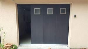 installation d39une porte de garage a landerneau mvm With porte d entrée alu avec dalle liège sol salle de bain