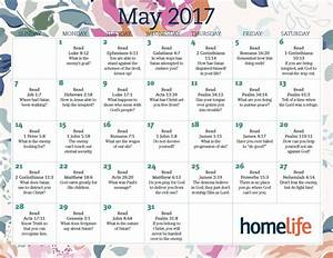 Month of May Scripture Calendar Home with a Twist