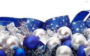 blue and silver ornaments wallpaper