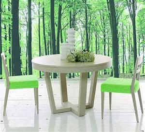 Table Bois Avec Rallonge : table ronde de salle manger avec rallonge brin d 39 ouest ~ Teatrodelosmanantiales.com Idées de Décoration