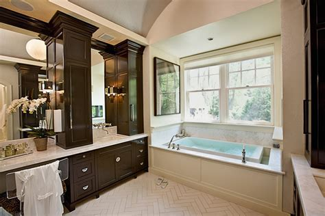 Chocolate Brown Cabinets   Contemporary   bathroom   Doryn