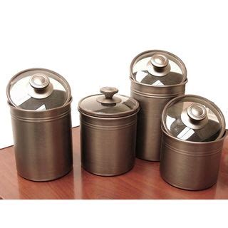 kitchen storage canisters sets kamenstein brushed bronze 4 kitchen canister set by
