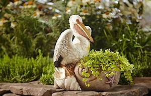 Pelican, Planter, -, Outdoor, Living, -, Outdoor, Decor