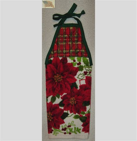 Kitchen Towels With Ties by Hanging Kitchen Towel Tie Straps Padded Machine Quilted