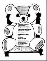 Cinnamon Bear Printable Teachers Craft Preschool Activity Bears Kindergarten Language Gazette Theme Children Apply Activities Coloring Pages Sniff Scratch Having sketch template