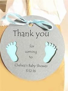 Round Gift Tags with Baby Feet ~ Thank you for coming ...