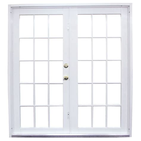 Outswing Patio Doors by Shop West Palm 72 In Clear Glass White Aluminum