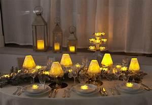 Table De Fete Decoration Noel : pour noel une deco blanc et or pour ma table bougie de no l ~ Zukunftsfamilie.com Idées de Décoration