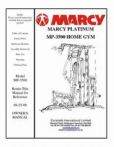 Marcy Home Gym Instruction Manual