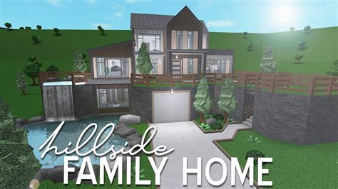roblox bloxburg hillside family home  youtube