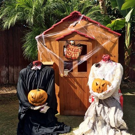 Scary Outdoor Halloween Party Decorating Ideas  Diy Inspired