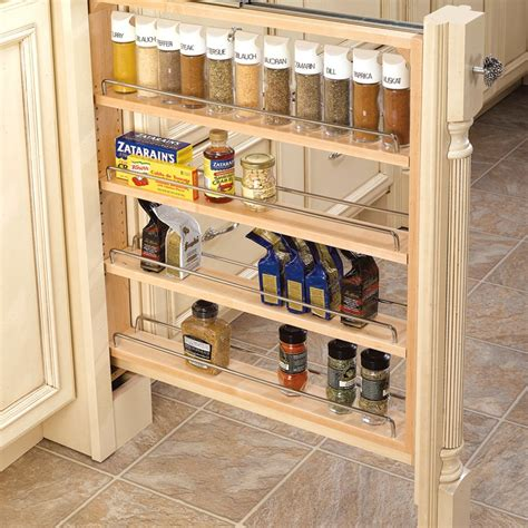 kitchen cabinet storage shelves rev a shelf 432 base filler 3 quot wood 432 bf 3c 5817