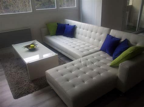 salon canapé blanc decoration salon avec canape blanc