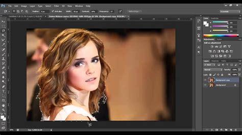 photoshop cs tutorials cutting  images youtube