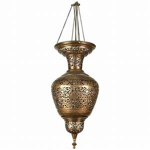 Moorish brass hanging light fixture at stdibs