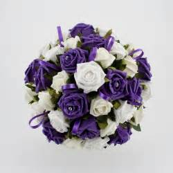 White and Purple Wedding Flowers