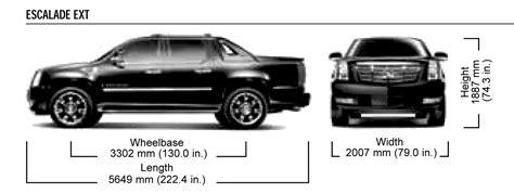 cadillac escalade ext sut pickup truck blueprints